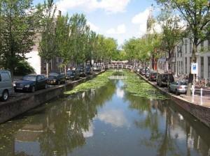 Kanal in Delft